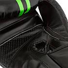 Боксерские перчатки 3016 Чорно-Зелені 8 унцій, фото 8