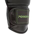 Боксерские перчатки 3016 Чорно-Зелені 8 унцій, фото 10