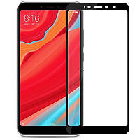Защитное цветное стекло Mocolo (full glue) на весь экран для Xiaomi Redmi S2 Черное