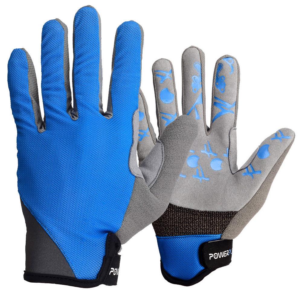 Велоперчатки без пальцев Сині M