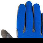 Велоперчатки без пальцев Сині M, фото 7