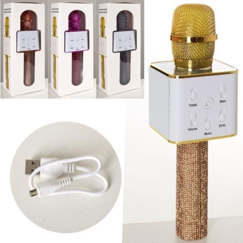 Микрофон для караоке беспроводной ЧЕРНЫЙ арт. Q7Lux
