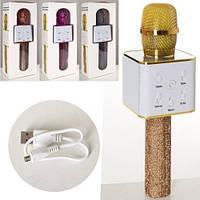 Микрофон для караоке беспроводной ЧЕРНЫЙ арт. Q7Lux, фото 1