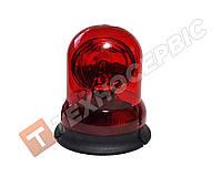 Маячок проблесковый красный 12 вольт (мигалка) стационарное крепление Турция