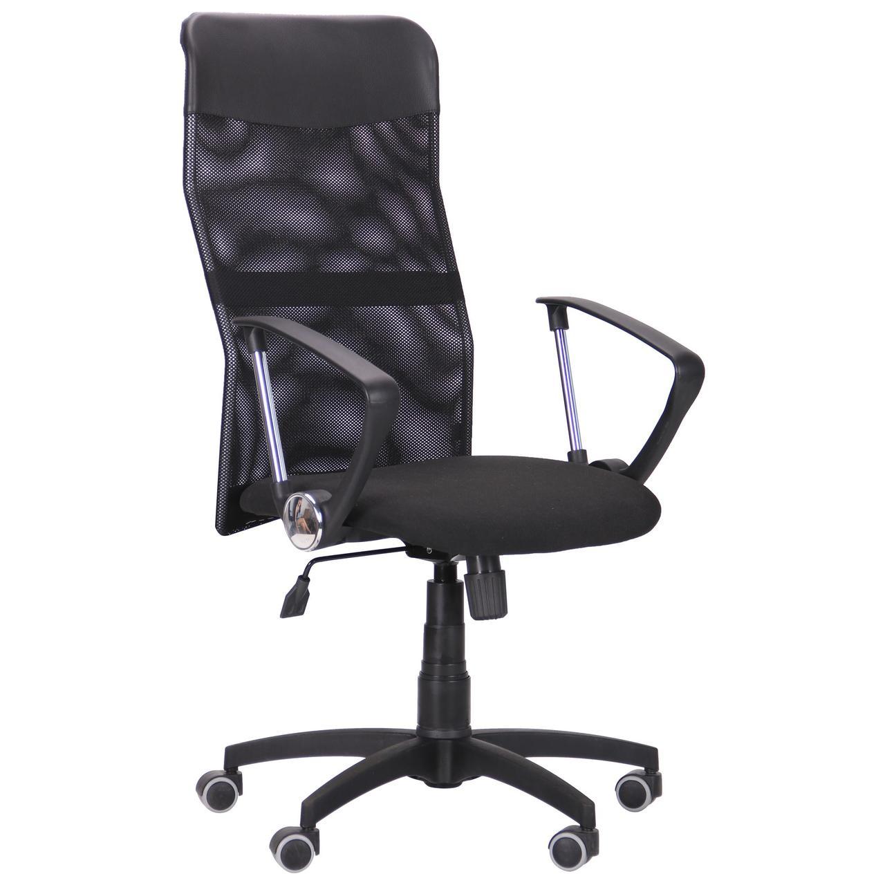 Кресло Ultra сиденье C-1/спинка Сетка черная, вставка Скаден черный