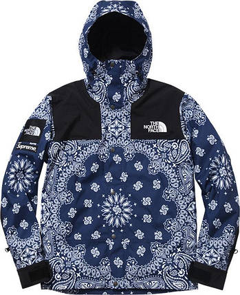 Куртка Supreme x The North Face Bandana Blue, фото 2