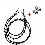 Шнурки для обуви с узелками эластичные с металлическими фиксаторами концов шнурка 2Life (n-504), фото 5