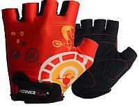 Перчатки велосипедные детские ӏ велоперчатки детские 001 B Червоні 3XS