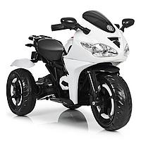Детский трехколесный электромобиль мотоцикл до 40 кг Bambi M 3683L-1 белый