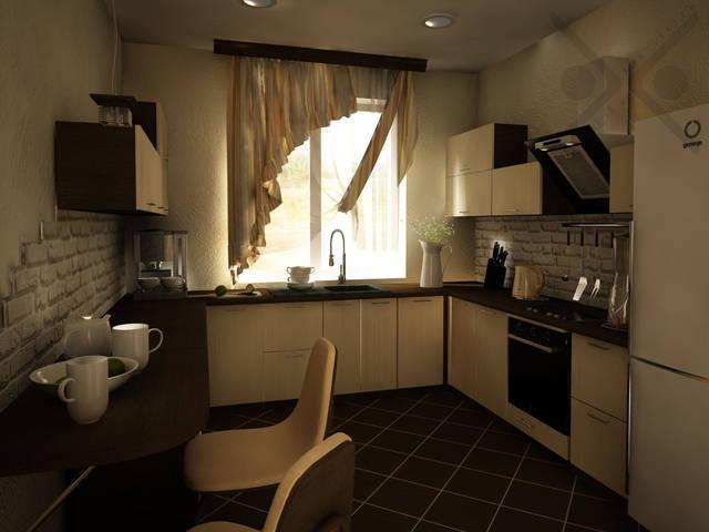 Объединенная гостиная и кухня в частном доме 1