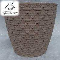 Горшок цветочный пластиковый Элиф пластик 0.75 л