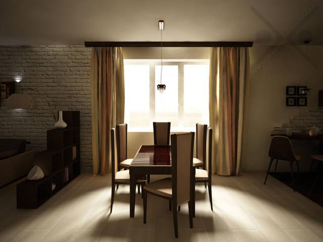 Объединенная гостиная и кухня в частном доме 4