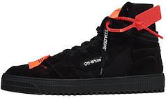 Мужские кроссовки Off-white Low 3.0 Hi-Top Black OMIA065E19800002-1000, Оф вайт Лов 3.0