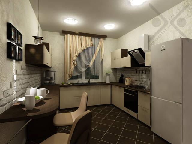 Объединенная гостиная и кухня в частном доме 6