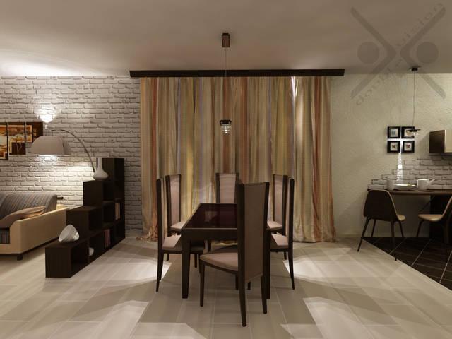Объединенная гостиная и кухня в частном доме 8