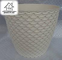 Горшок цветочный пластиковый Элиф пластик 1.6 л молочный