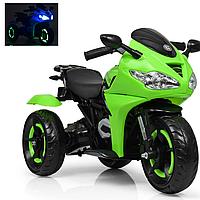 Детский трехколесный электромобиль мотоцикл до 40 кг Bambi M 3683L-5 зеленый
