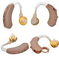 Заушный слуховой аппарат Axon X-163 с пластиковым кейсом Бежевый
