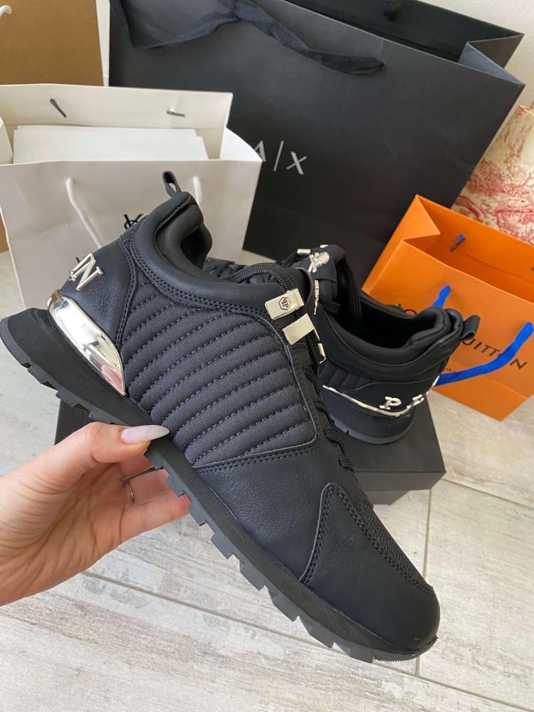 Мужские кроссовки Philipp Plein 21034 черные