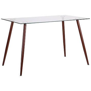 Стол обеденный Умберто орех/стекло прозрачное