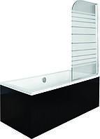 Шторки для ванн Besco PMD Ambition - 1 с полосками 75x130