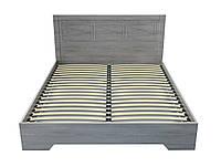 Кровать двуспальная с подъемным механизмом 140х200 Неман Марсель (ГП) дуб Грей