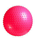 Мяч для фитнеса, фитбол на беремнных и похудения 55см Розовий + насос, фото 3