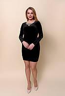 Жіноче чорне плаття футляр з відкритою спиною. Розміри 44, 46. Хмельницький, фото 1
