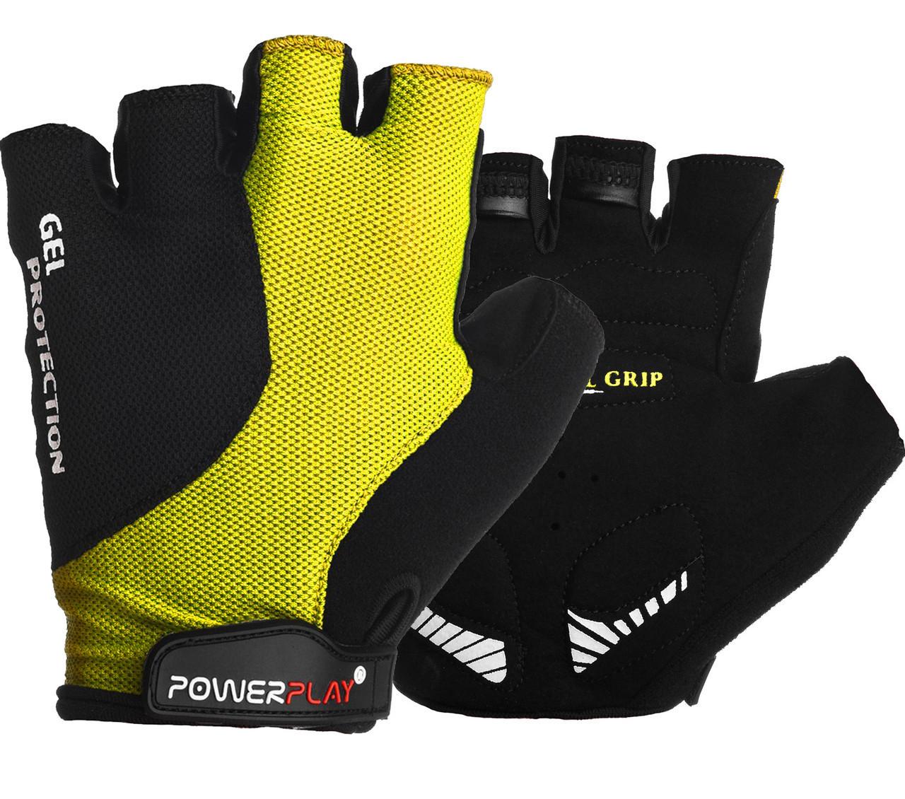 Перчатки велосипедные ӏ велоперчатки 5028 B Чорно-жовті L
