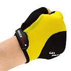 Перчатки велосипедные ӏ велоперчатки 5028 B Чорно-жовті L, фото 5