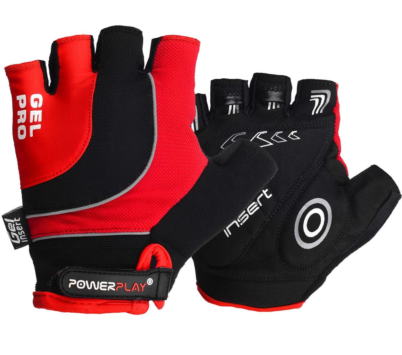 Перчатки велосипедные ӏ велоперчатки 5015 Червоні S