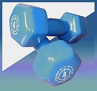Гантели для фитнеса и аэробики обрезиненные 4 kg PS-4027 (1 шт.)