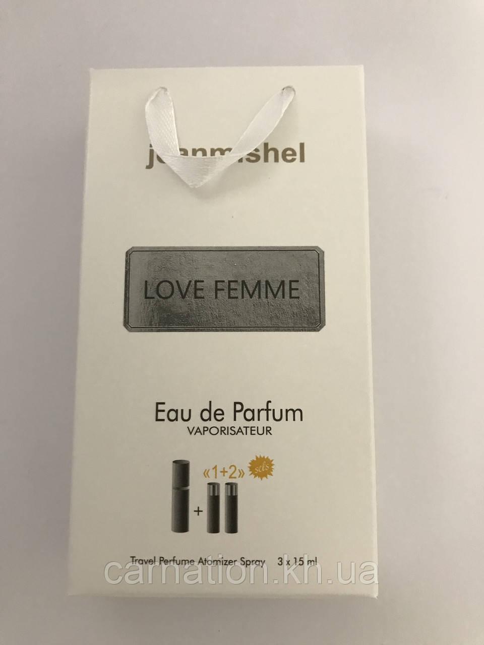 Подарочный набор LoveFemme Jeanmishel 3*15 мл