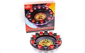 Рулетка подарочная (алко рулетка) Drinking Roulette Set GB066-P (рулетка, рюмки, шарик)