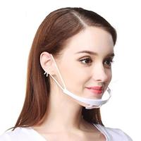 Защитная прозрачная косметологическая пластикова маска для лица, 1 шт.