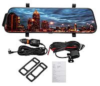"""Сенсорное зеркало видеорегистратор L900 9.6"""" TouchScreen 1080р с камерой заднего вида"""