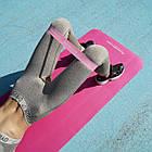 Коврик-мат для йоги и фитнесса ӏ йогимат FITNESS-YOGA MAT Pink, фото 4