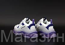 Женские кроссовки Balenciaga Triple S Clear Sole Purple Grey White Баленсиага Трипл С, фото 3
