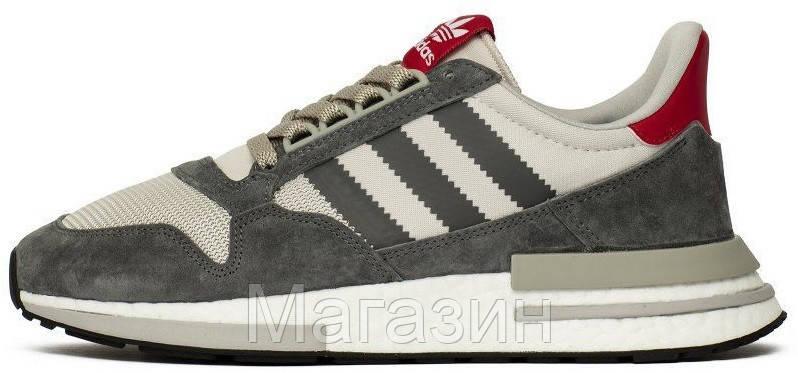 Мужские кроссовки adidas ZX 500 RM OG Colorway Grey Адидас ZX 500 серые