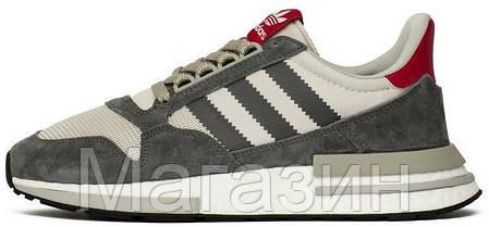 Мужские кроссовки adidas ZX 500 RM OG Colorway Grey Адидас ZX 500 серые, фото 2