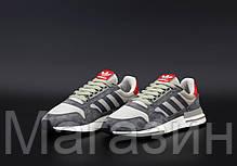 Мужские женские кроссовки adidas ZX 500 RM OG Colorway Grey Адидас ZX 500 серые, фото 3