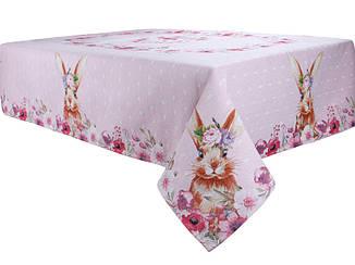 Гобеленовая скатерть 140x220 см. Розовая Lefard, 711-087