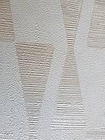 Обои Marburg Tango 58855 лофт геометрия серебристые фигуры треугольники на белом фоне 10.05х0.70 м.