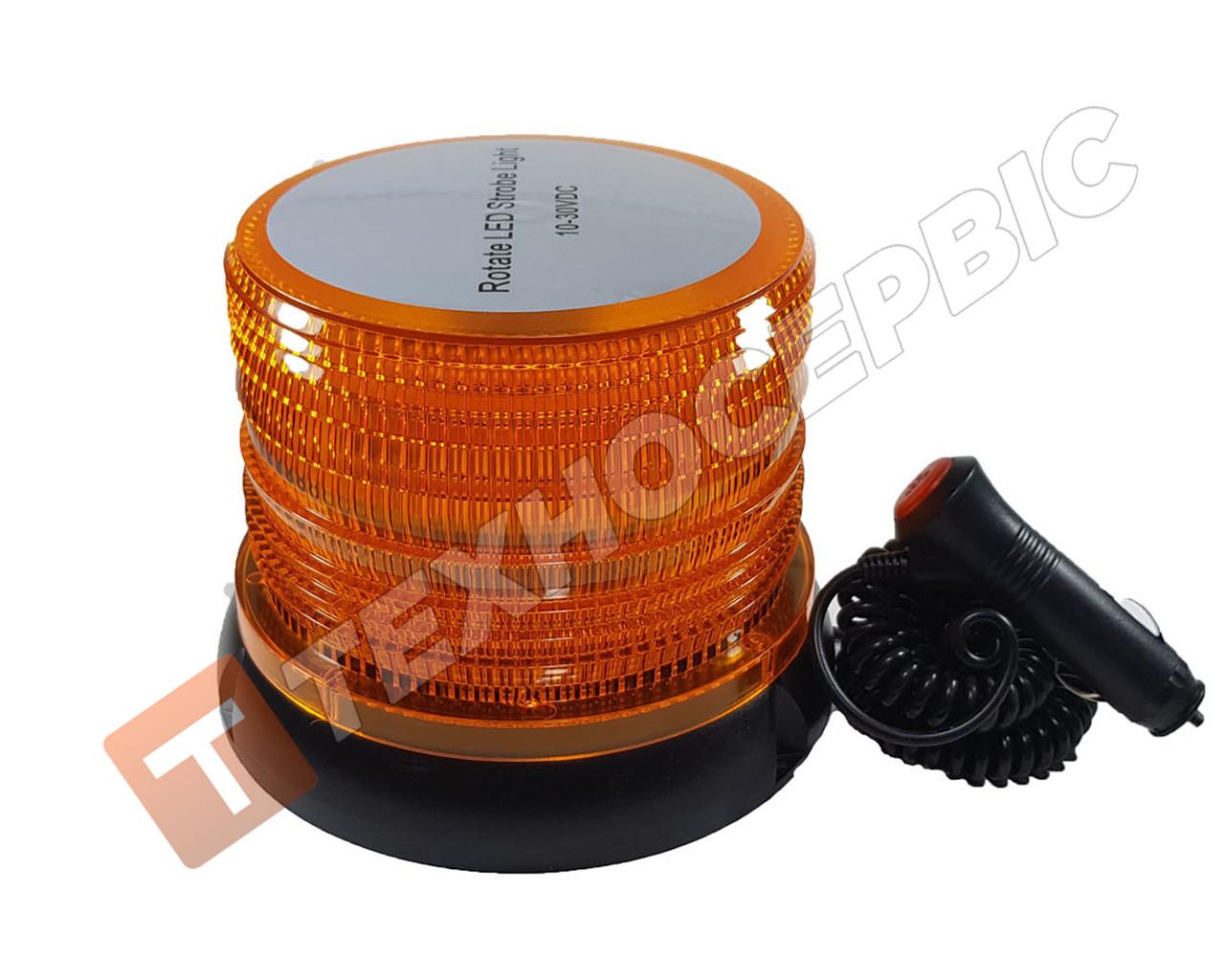 Проблисковий Маячок, помаранчевий, світлодіодний LED,12-24 Вольт (мигалки) магнітне кріплення Туреччина 72
