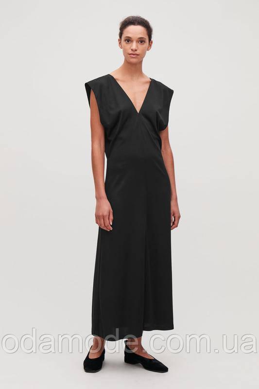 Женское платье макси чёрное COS