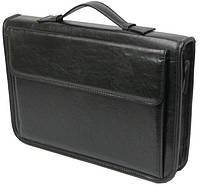 Деловая папка-портфель из эко кожи A-art 36TARK черная