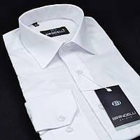 Сорочка чоловіча, приталена (Slim Fit), з довгим рукавом Birindelli 512366 Біла 80% бавовна 20% поліестер M(Р)