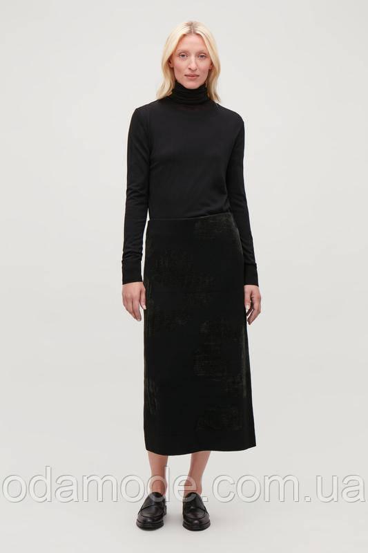 Женская юбка шерстяная зелёная  COS
