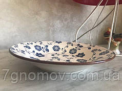 Тарелка керамическая обеденная большая Мальвы 26.5 см