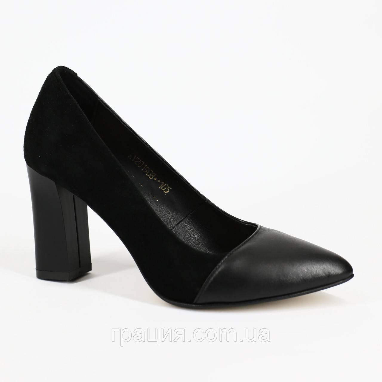 Елегантні жіночі туфлі натуральні шкіряні на підборах